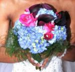wedding flowers florist- Blue,Black and hot p ...